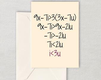Math teacher card  Etsy