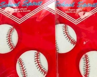 PRE-SUMMERSALE School Spirit Baseball Button Pins, 2 sets of 2 (4 total)