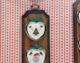 SPRINGSALE Vintage Christmas Mini-Hearts by Kathy Stopczynski for counted cross stitch , hard to find