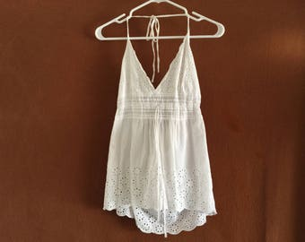 Vintage lace halter top