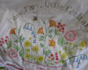 Hand Embroidered Garden Grow Quilt