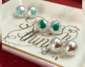 Holiday 16mm pearl earrings