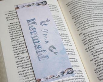 Art drawing print, disney princess Little Mermaid bookmark mermaid bookmark