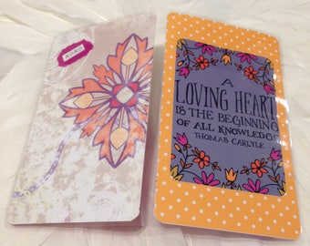 "PERSONAL size Travelers Notebook Wrap Around DASHBOARD with ""A Loving Heart is the Beginning of all Knowledge"""