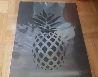 Large Pineapple Stencil handcut