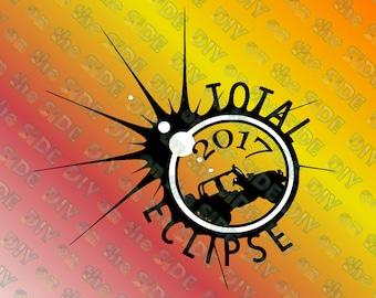 SVG Cut File Jeep Total Solar Eclipse 2017 Instant Download