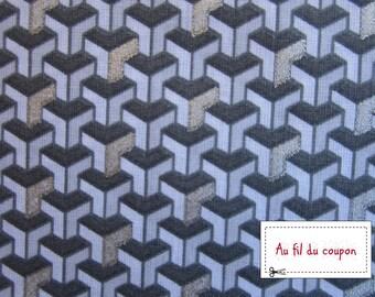 "Fabric 100% cotton ""Silver facet"""