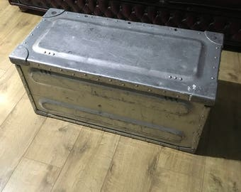 Metal ammo chest coffee table