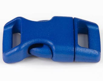 set of 5 plastic clips blue 15mm Paracord Bracelet