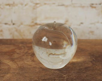 1970's Large Glass Cherry Paperweight
