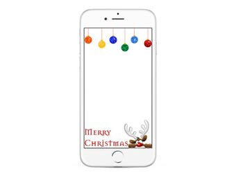 Merry Christmas Snapchat GeoFilter