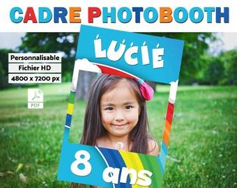 Cadre à selfie personnalisable - Photobooth Anniversaire Enfant // A imprimer - fichier numérique