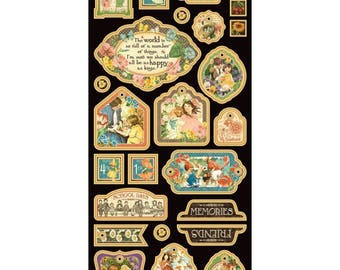 """Graphic 45 """"Children's Hour Collection"""" Chipboard 2"""