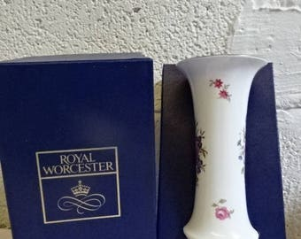 Royal Worcester Tall Vase/Bournemouth/Fine Bone China/Collectable/Vintage/1970s