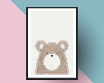 Nordic Print | PRINTABLE Scandinavian Bear - Nursery art
