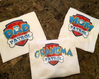 Paw Patrol Inspired Family Birthday Shirts