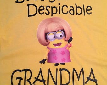 Minion Inspired Grandma/Mom/Aunt Tshirt