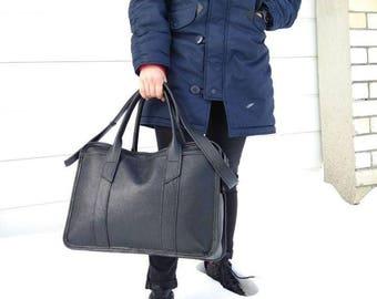 LARGE BUSINESS BAG, Laptop leather bag, Black leather bag women, Leather business bag, Mens leather handbag, Handmade leather bag, Mens bags
