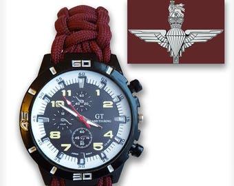Paracord Regimental Survival Watch