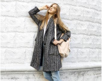Warm cardigan, Cozy warm cardigan, Stylish coat, Coats for women, Long Cardigan, Long coat, Woolen coat, Woolen jacket, Woolen cardigan