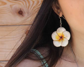 Hawaiian earrings, handmade