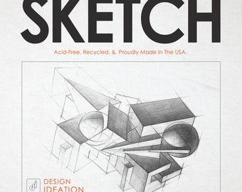 Premium Sketch Paper for Pencil, Ink, Marker, Charcoal and Watercolor Paints. Great for Art, Design and Education. Loose Sheet Pack.