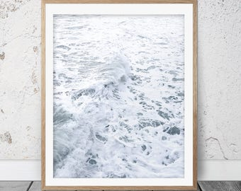 Printable Coastal Wall Art, Beach Photography, Printable Poster, Printable Art, Coastal Wall Art, Beach Print, Ocean Waves Print, FM-135