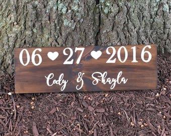 Wedding Date Sign, Bridal Shower Gift, Engagement Gift, Wedding Gift, Wedding Photo Prop, Engagement Photo, Wedding Sign, Save the Date Sign