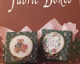 Cross Stitch Fabric Boxes Kit Bear/Love