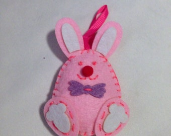 Pink Easter Bunny Easter Ornament