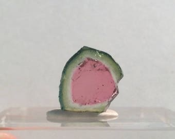 4.95 ct watermelon tourmaline slice from Kunar,Afghanistan D24