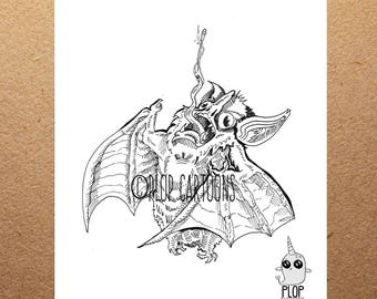 Bat Giclee' Art Print