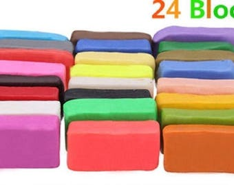 NEW - 24 bread dough FIMO SOFT 20 g in a set of 24 blocks different colors