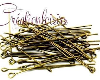 50 nails / pins look - long. 50 mm - bronze
