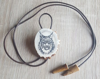 Mens Necklace Engraved Jewelry Western Accessories Cowboy Jewellery Best Necklace Gift For Him Bolo Tie Animal Jewelry Man Necklace Pendant