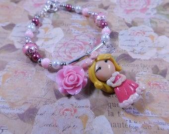 Cinderella's Pink Dress Bracelet