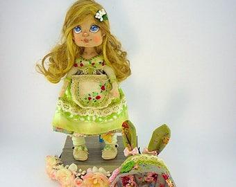 FREE SHIPPING! textile doll, dolls handmade,fabric dolls, antique dolls, hand made, cloth dolls, art dolls,handmade dolls, vintage dolls