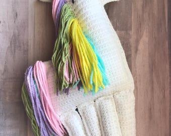 Crochet Unicorn Rag Doll Stuffed Animal