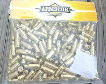 22TCM Brass-Armscor 22TCM Brass Cases- .22 TCM Reloading Brass-200 New Unprimed Empty Bullet Shells-Brass for Reloading Bullets