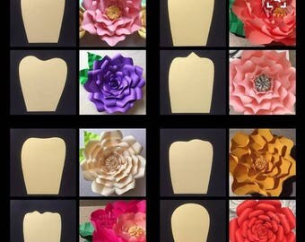 Giant flower molds to cut with cameo, Portrait, Curium Silhouette