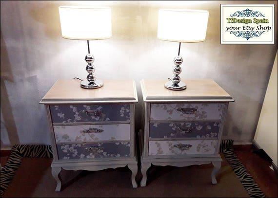 vintage nachttisch wei excellent glas kofferraum stil. Black Bedroom Furniture Sets. Home Design Ideas