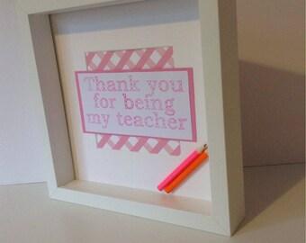 Thank you teacher frame