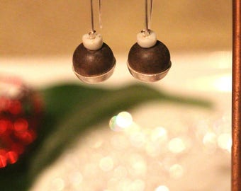 "Earrings ""Wooded beads"""