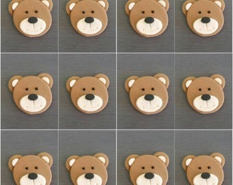 12 x  Teddy Bear Cupcake Toppers, Fondant Teddy's, Teddy Bear Picnic, Edible bear decorations, Teddy bear cake toppers