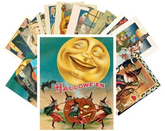 Postcard Pack (24 cards) Halloween Vintage Greeting Cards and Posters CC1013