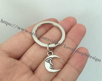 keychain , moon keychain,moon gifts key ring