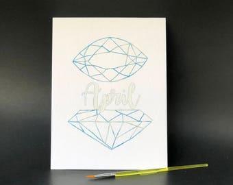 April Birthstone - Paint Kit