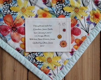 Personalized Sewing Labels   Personalized Quilt Labels   Custom Fabric Labels   Cut-Out Labels   Birth Stats Label