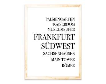 Poster, Frankfurt, Städteprint, city
