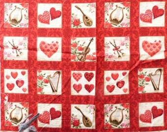 Cotton fabric pillows 49 x 39 cm thumbnails LOVE AMOUR
